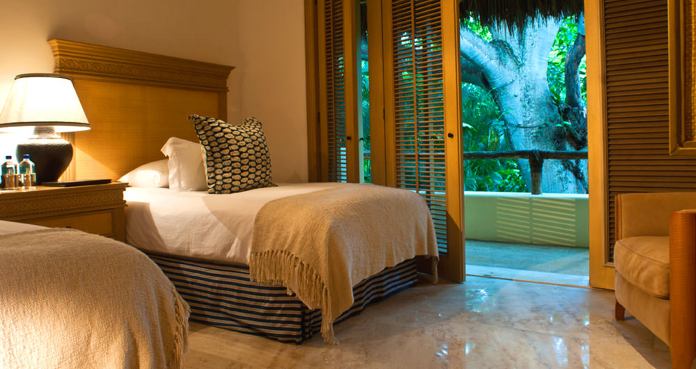 Casa Aramara bedroom with tropical view